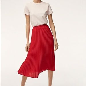 Babaton Red Jude skirt